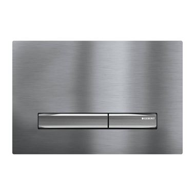 Geberit Metal Sigma50 Dual Flush Plate - Brushed Chrome